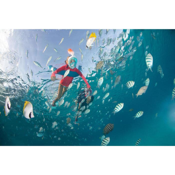 Palme de snorkeling SNK 520 JR Rose Turquoise