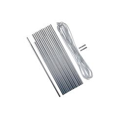 鋁製營柱組4.5 M Ø 8.5 mm;15 x 30 cm營柱