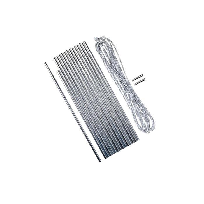 Conjunto de varetas de alumínio 4,5 metros Ø 8,5 mm; 15 varas de 30 cm