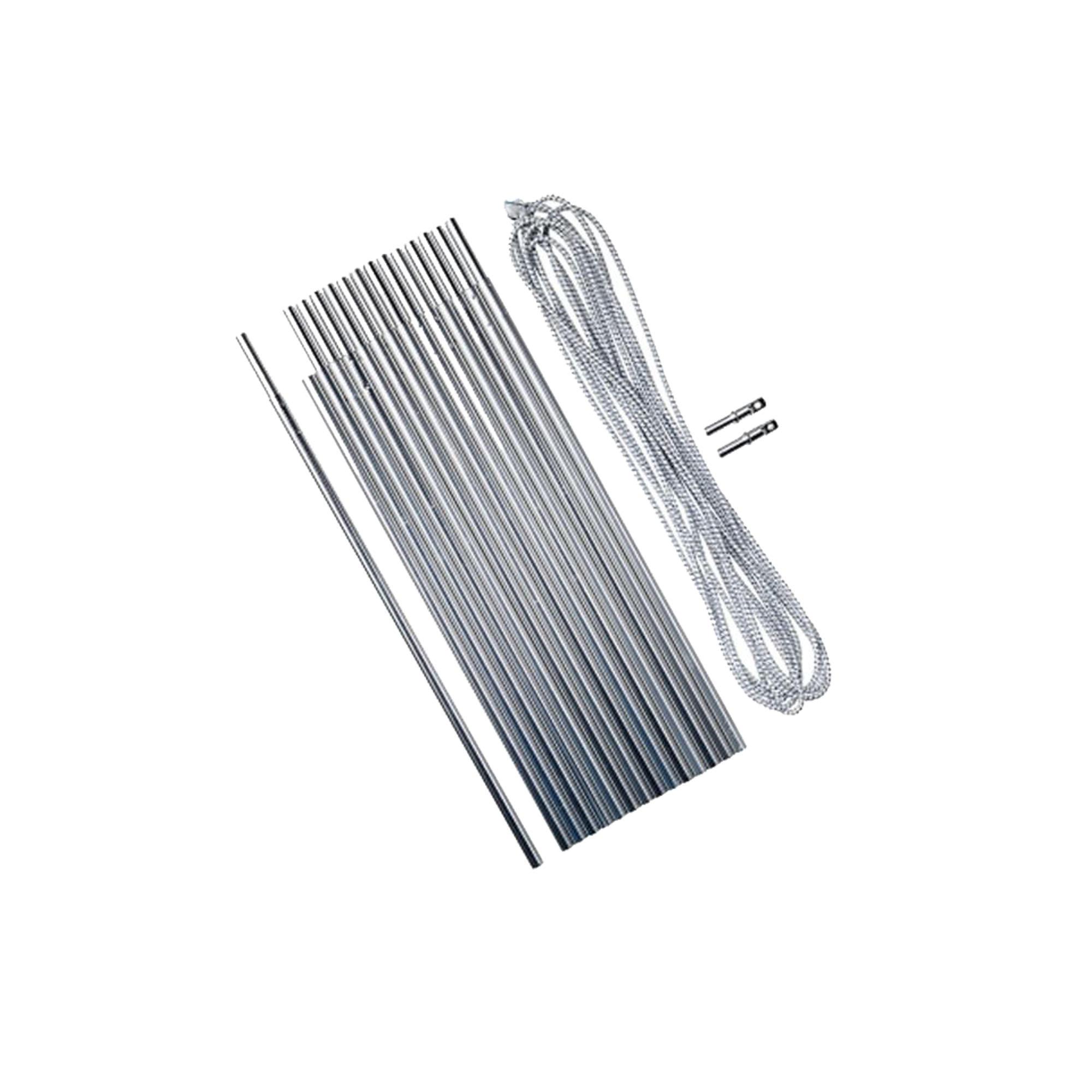 Kit arceau en aluminium 4,5 mètres Ø 8,5 mm ; 15 joncs de 30 cm - Forclaz