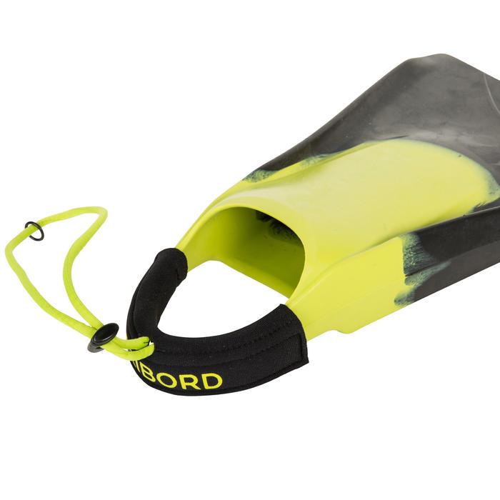 Palmes bodyboard 500 verte bleue avec leash - 161540