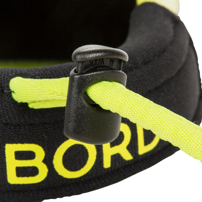 Zwemvliezen bodyboard 500 zwart geel met leash