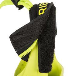 Vinnen voor bodyboard 500 zwart geel met leash