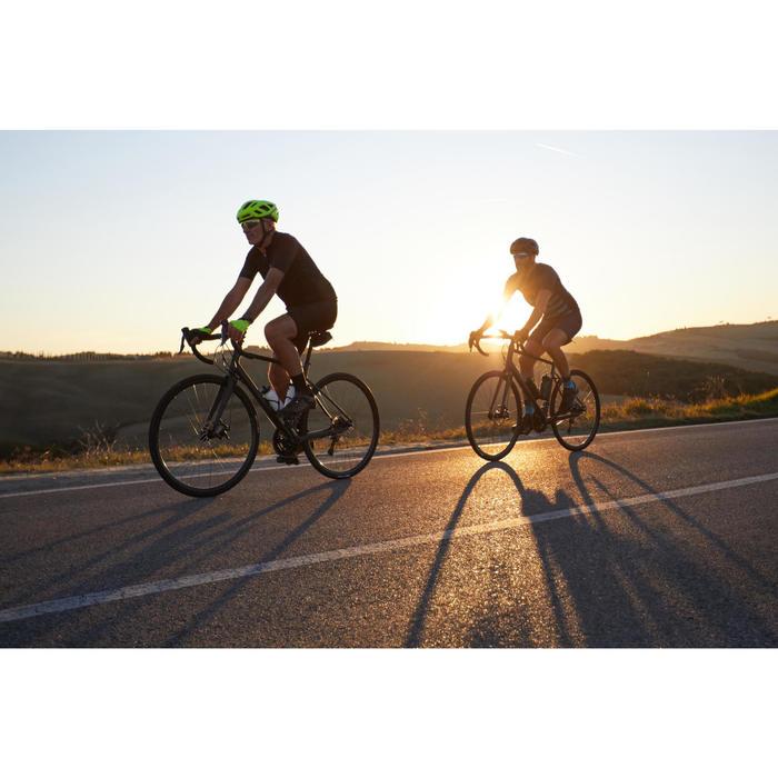 Cuissard vélo route à bretelles TRIBAN RC500 noir avec poche