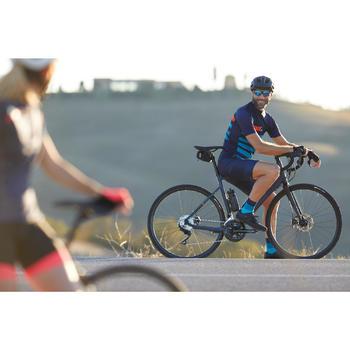 Kurzarm-Radtrikot Rennrad RC 500 Herren blau