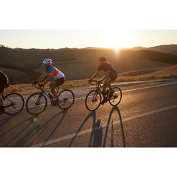 Cuissard vélo route à bretelles homme cyclotourisme RC500 noir avec poche