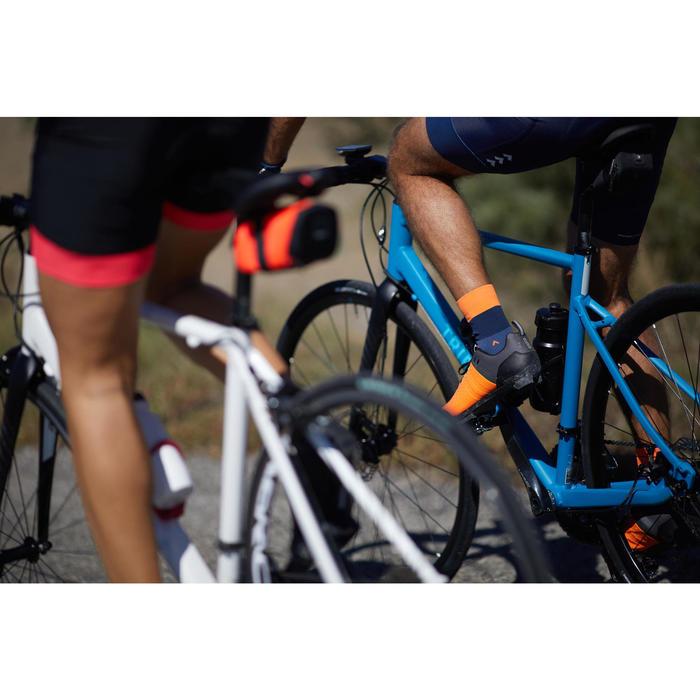 Fahrradschuhe Rennrad RC 500 SPD ORANGE/GRAU