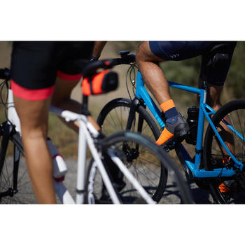 Fahrradschuhe Rennrad RC 500 (für SPD Cleats) ORANGE/GRAU