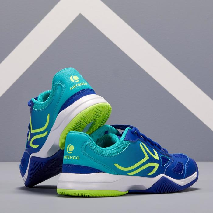 CHAUSSURES DE TENNIS ENFANT ARTENGO TS560 JR BLUE GREEN