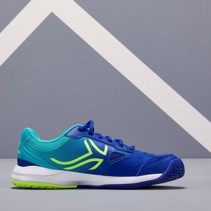 Tennisschuhe TS560 Turnschuhe Kinder blau/grün