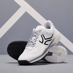 Tennisschoenen heren TS990 wit/zwart/grijs multicourt