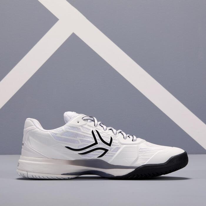 多場地適用款網球鞋TS990 - 白黑灰配色