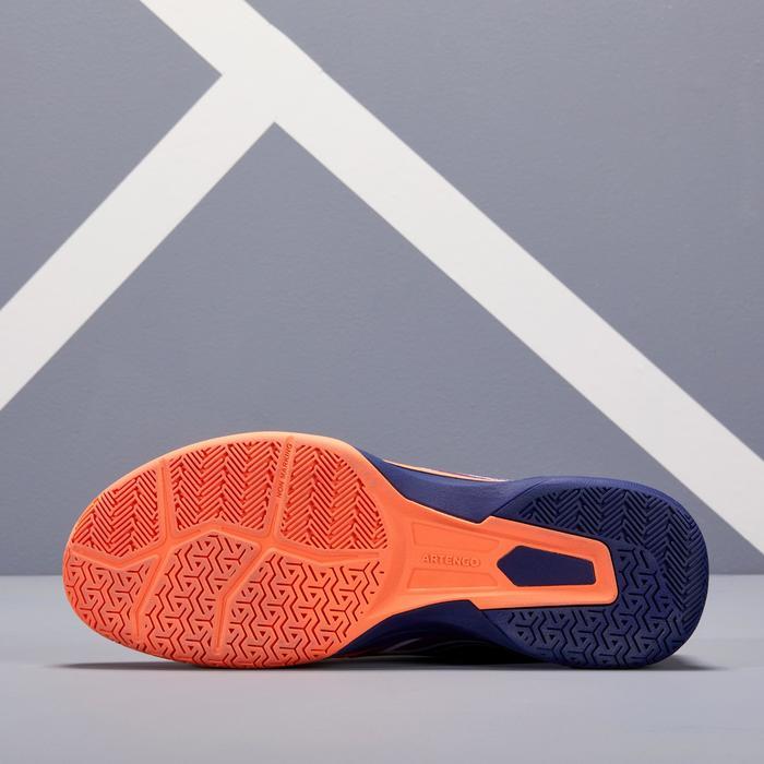 Tennisschoenen voor heren TS590 koraalrood blauw multicourt