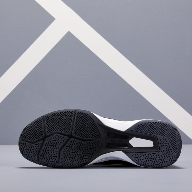 รองเท้าเทนนิสสำหรับพื้นสนามหลายประเภทรุ่น TS590 (สีดำ)