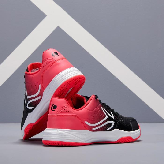 Tennisschuhe TS190 Damen schwarz/rosa