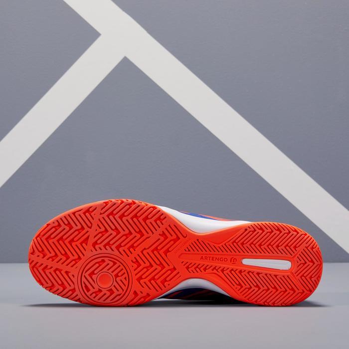 Tennisschoenen voor heren TS190 blauw oranje multicourt