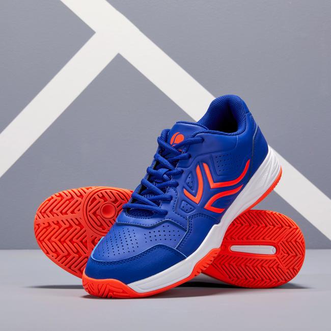 TS190 Multicourt Tennis Shoes - Blue/Orange