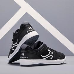 Tennisschoenen voor heren TS130 zwart multicourt