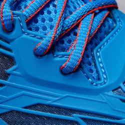 Tennisschuhe Multicourt TS990 Turnschuhe mit Klettverschluss Kinder blau