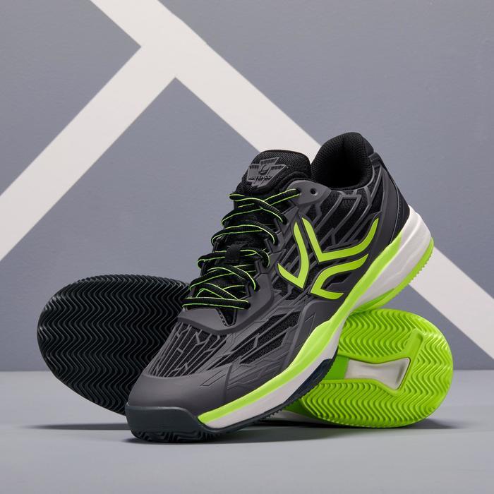 Tennisschoenen voor heren TS990 gravel zwart geel