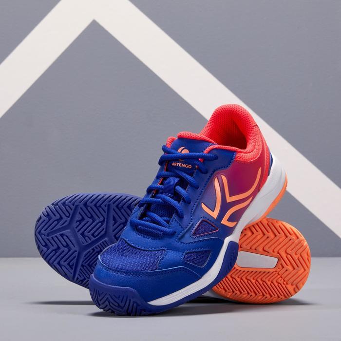 TS560兒童款網球鞋-靛藍/粉紅色