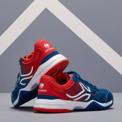 TS560兒童款網球鞋-藍色/紅色