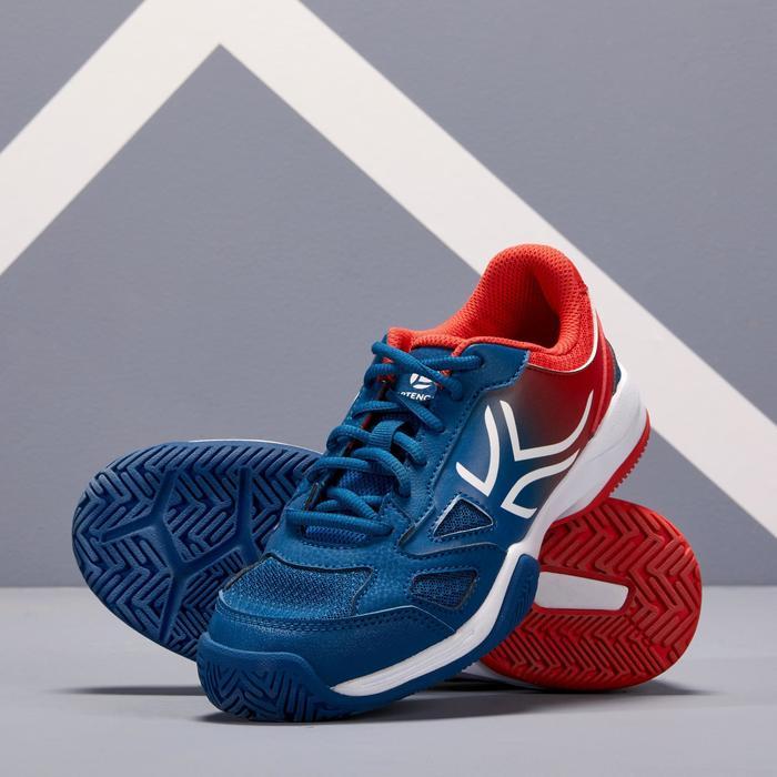 Tennisschuhe TS560 Turnschuhe Kinder blau/rot
