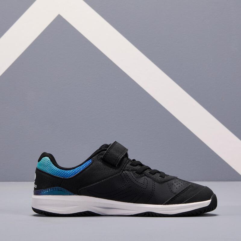 Scarpe tennis bambino TS160 nere-azzurre