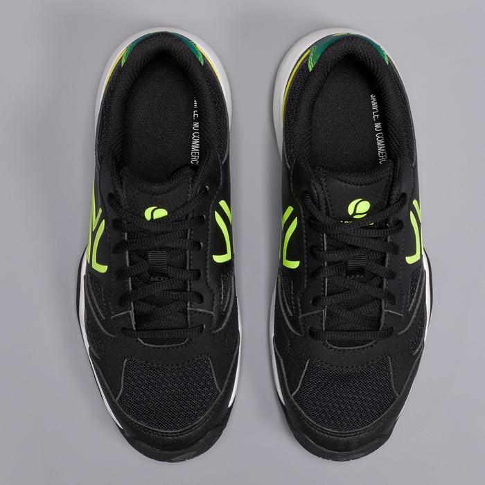 TS560兒童款網球鞋-黑色/黃色