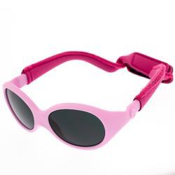Sonnenbrille Wandern MH500 mit Band Kategorie 4 Baby 6-24 Monate rosa