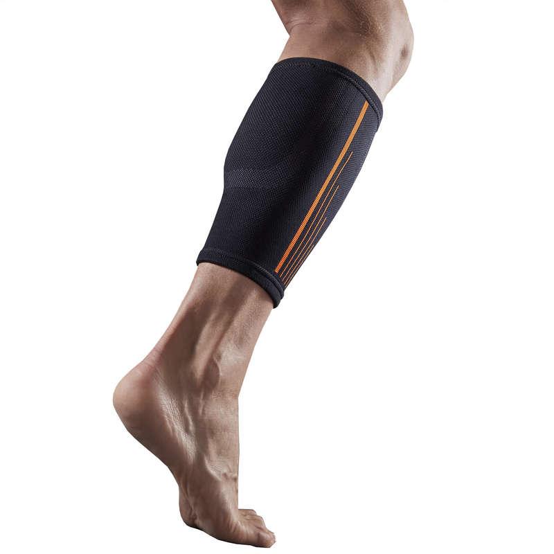 Protecţii glezne/genunchiere Fotbal - Gleznieră SOFT 300 negru TARMAK - Sustinere musculara si articulara