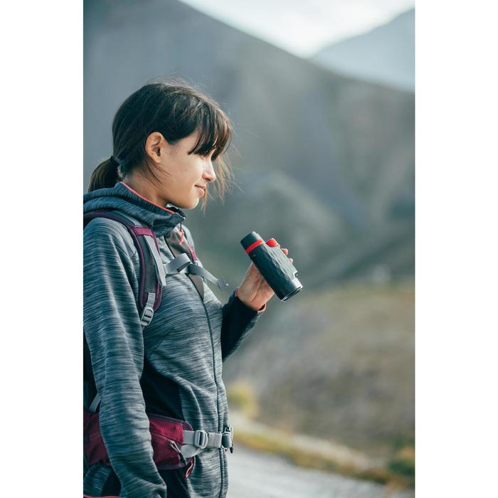 女款登山健行刷毛外套MH920-碳灰色