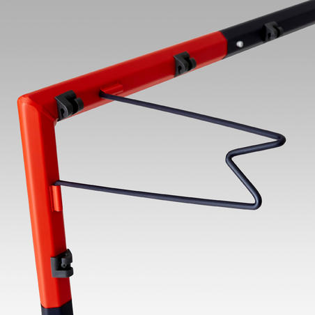 Portería de fútbol SG 500 talla G azul marino/naranja
