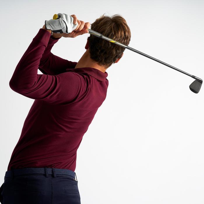 Golfpolo met lange mouwen voor heren bordeaux