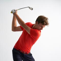 Golf Poloshirt Kurzarm Herren korallenrot