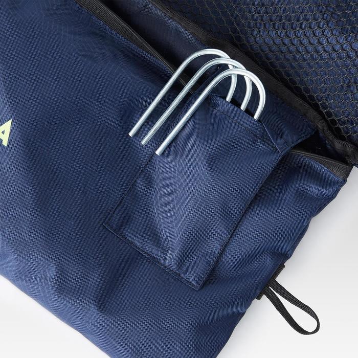 Opblaasbaar voetbaldoeltje Air Kage blauw/geel
