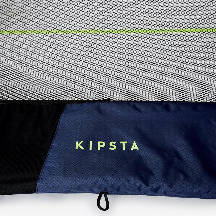 Portería de Fútbol inflable Kipsta NG500S azul marino amarillo