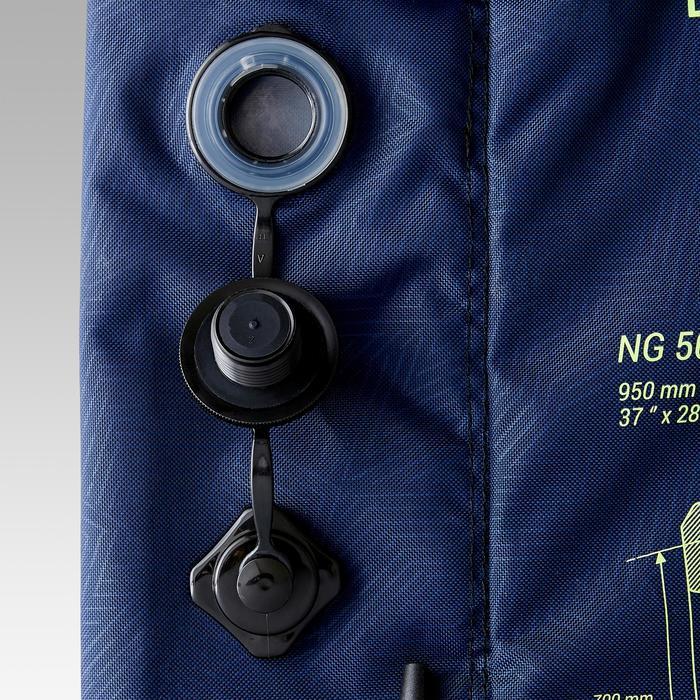 Opblaasbaar voetbaldoeltje NG500S 100X70 cm marineblauw/geel