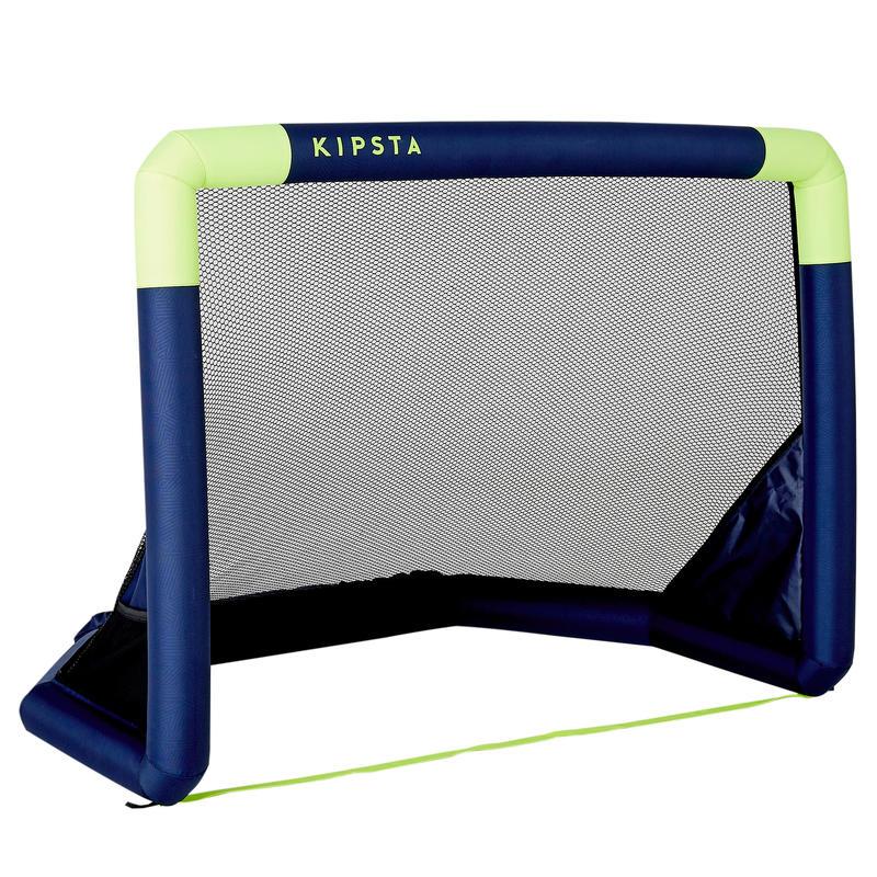 Portería de Fútbol Hinchable Kipsta Air Kage azul amarillo