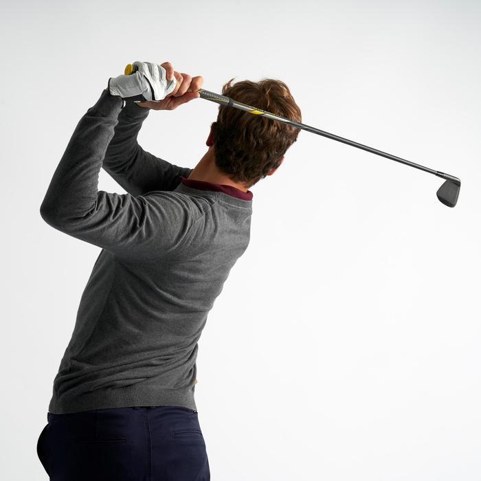 男款溫和氣候圓領高爾夫球針織衫-炭灰色