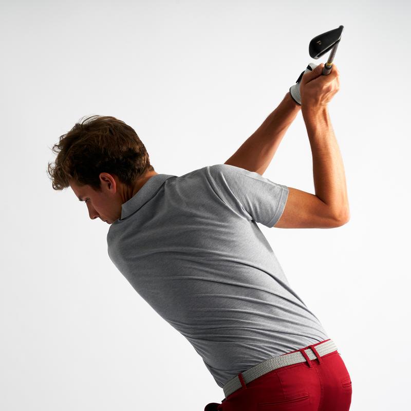 Men's Golf Polo T-Shirt 500 Heather Grey