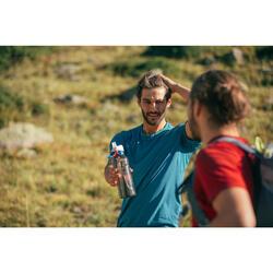 Camiseta manga corta de Montaña y Trekking Forclaz MH100 Hombre Azul Turquesa