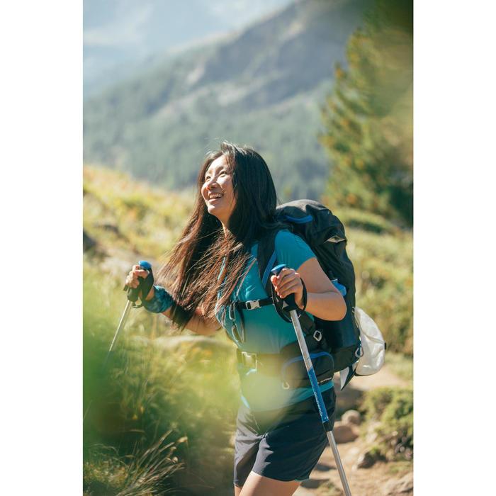 Wandelshirt met korte mouwen voor bergtochten dames MH100 turkoois