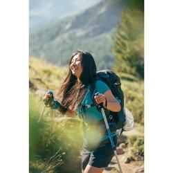 Wandershirt Bergwandern MH100 Damen türkis