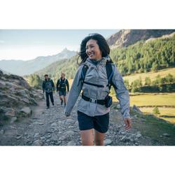 Chaqueta impermeable de senderismo montaña mujer MH100 Gris jaspeado