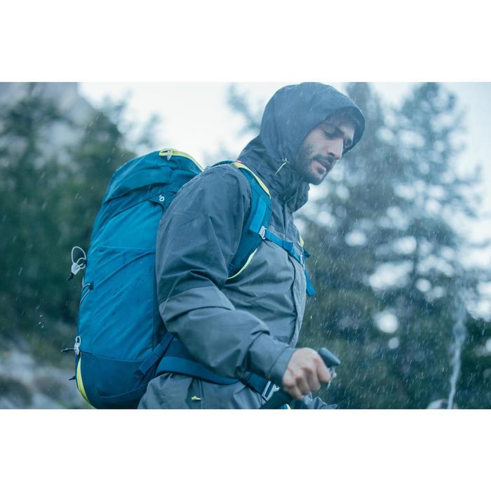 Chaqueta Lluvia Senderismo en la montaña MH impermeable Hombre Azul