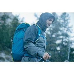 Veste pluie randonnée montagne MH100 imperméable homme Gris Noir
