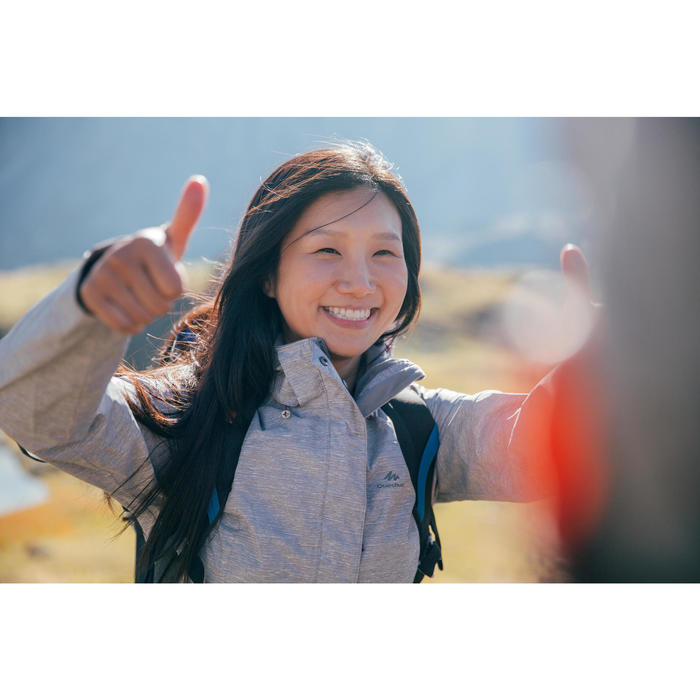 Chaqueta impermeable de senderismo montaña mujer MH100 Negro