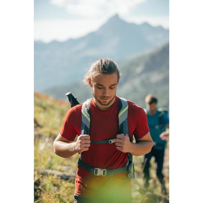 Wandershirt Bergwandern MH100 Herren rot