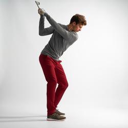 Golfbroek voor heren donkerrood
